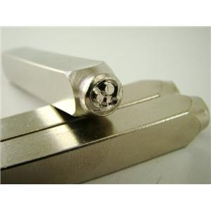 """Ghost Skull"" 1/4""-6mm-Large Stamp-Metal-Hardened Steel-Gold&Silver Bars"
