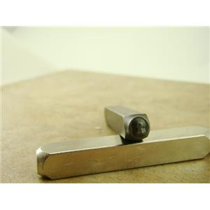"""Key Lock Hole""1/4""-6mm-Large Stamp-Metal-Hardened Steel-Gold&Silver Bars"