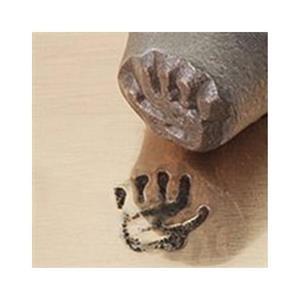 """Left Hand Print""3/8""-9.5mm-Stamp-Metal-Hardened Steel-Gold & Silver Bars"