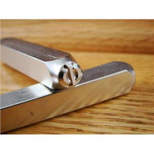 """Greek-Phi-Sign"" 1/4""-6mm-Large Stamp-Punch-Metal-Steel-Gold & Silver Bars"