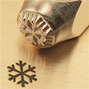 """""""Winter Snow Flake""""1/4""""-6mm-Large Stamp-Punch-Metal-Steel-Gold & Silver Bars"""