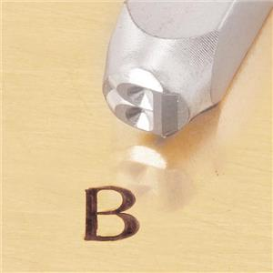 """Greek-Beta-Sign"" 1/4""-6mm-Large Stamp-Punch-Metal-Steel-Gold & Silver Bars(B78"
