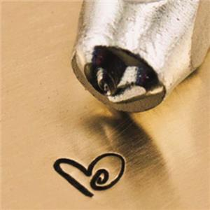 """""""Boogie Love Heart"""" 1/8""""-3mm-Stamp-Metal-Hardened Steel-Gold & Silver Bars"""