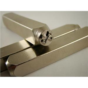 """""""CrossBones"""" 1/4""""-6mm-Large Stamp-Metal-Hardened Steel-Gold&Silver Bars"""