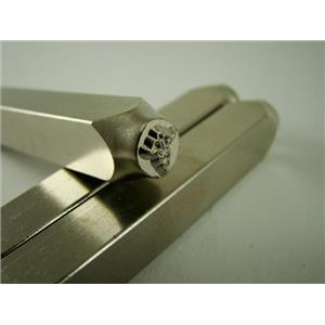 """""""Medical Sign"""" 1/4""""-6mm-Large Stamp-Metal-Hardened Steel-Gold&Silver Bars"""