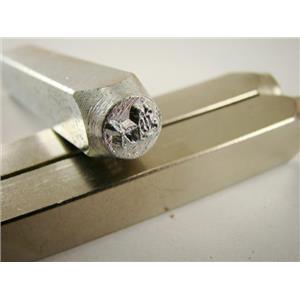 """""""Stick Dog"""" 1/4""""-6mm-Large Stamp-Metal-Hardened Steel-Gold&Silver Bars"""