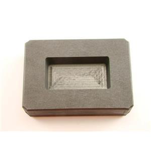 4 oz Gold Bar High Density Graphite Mold 2.5 oz Silver Loaf Scrap Copper