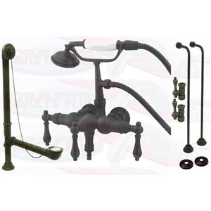 Kingston Brass CCK19T5A Vintage ClawFoot Tub Filler-Shower Mixer Kit - Oil Rubbed Bronze