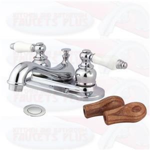 """Kingston Brass KB601B Vintage 4"""" Centerset Bathroom Sink Faucet - Polished Chrome"""