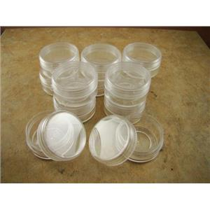 Lot of 12pcs Round Plastic Storage Containers-Gold-Beads-Minerals-Fishing Gear
