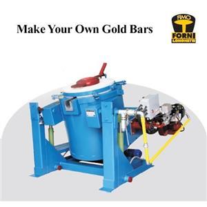 300 Kilo 2370 F  Propane Gas Tilting Furnace-Smelt/Melt Gold-Copper-Silver 1330C