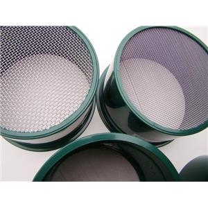 Stackable Plastic Sieve / Screen Kit 4 screens Classifying10-20-30-40 Mesh-Gold