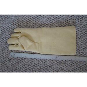 "Professional Kevlar Heat Glove-Furnace Kiln Fire 17"" Left Hand Gold Melt Safety"