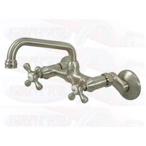 Kingston Brass Satin Nickel Wall Kitchen Faucet KS213SN