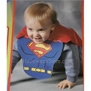 Superman Baby Hero Infant Bonnet & Bib Costume