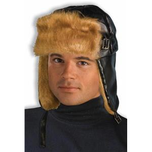 Furry Aviator Adult Costume Hat