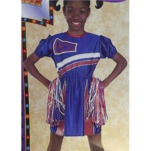 Blue Cheerleader Child Costume Small 4-6