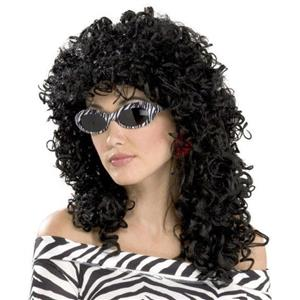 Forum Novelties 80's To The Maxx Black Wild Curl Adult Unisex Wig