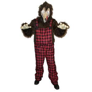 Men's Big Bad News Wolfie Wolf Animal Adult Costume