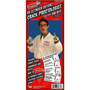 Dr. Seymore Botomz Proctologist Kit Humorous Adult Costume Kit