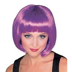 Purple Supermodel Short Bob Wig with Bangs