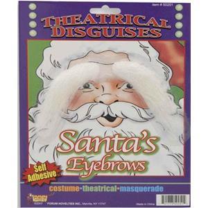 Santa Claus White Christmas Eyebrows Disquise Kit
