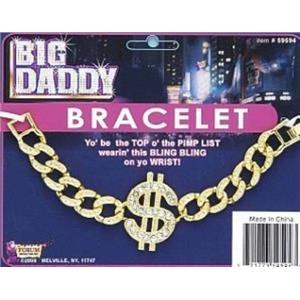 Big Daddy $ Dollar Sign Bracelet Costume Accessory