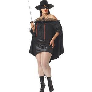 La Bandida Sexy Plus Size Zorro Adult Costume
