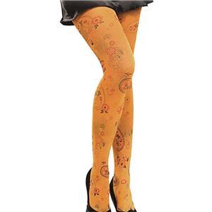 Orange Paisley Psychedelic Tights