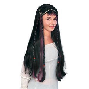 Black Renaissance Fair Maiden Guinevere Wig
