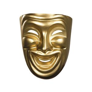 Gold Painted Comedy Adult Mask