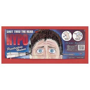 Hypo Needle Thru the Head Novelty Prop Gag Joke