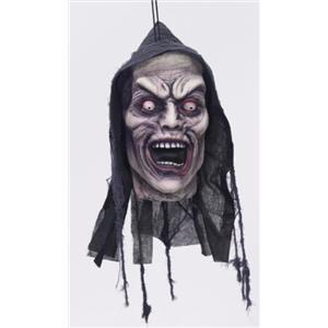 Screamer Hanging Cut Off Head Halloween Prop