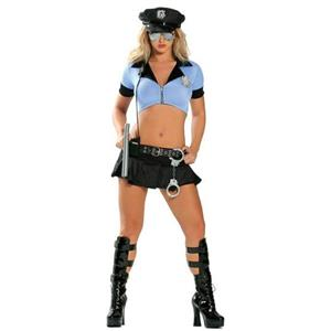 8 Piece Sexy Police Officer Adult Costume Medium/Large