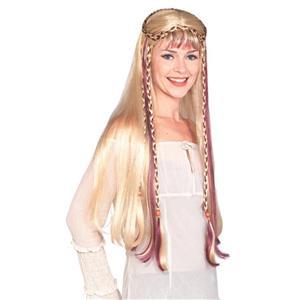 Blonde Medieval Maiden Wig