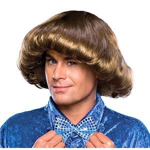 Brown 70s Prom King Bowl Cut Mens Wig