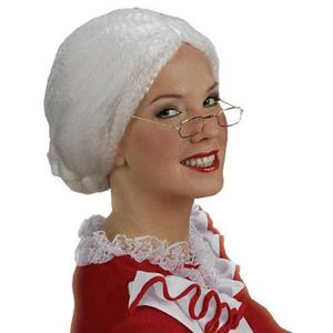 Mrs. Santa Claus Wig Christmas Old Woman Bun