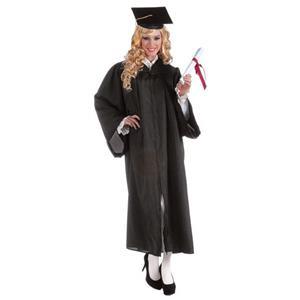 Adult Unisex Black Full Length Graduation Robe Costume