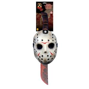 Friday the 13th Jason Mask & Machete Costume Accessory Set