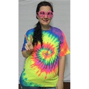 XL Tye Dye Shirt Bright Tie Dye Shirt Hot PINK