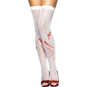 Blood Stained White Stockings Pantyhose Leggings Zombie