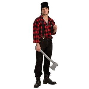 Plaid Lumber Jack Paul Bunyan Adult Costume Standard