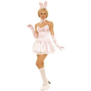 Pink Bunny Rabbit Sexy Adult Costume Size Large