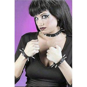 Spike Punk Choker and Armbands Set Rocker Biker Accessory