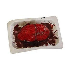 Bloody Banquet Heart in a Butcher's Meat Tray Prop
