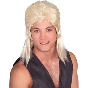 Joe Exotic Tiger King Humor Blonde Mullet Shoulder Length Wig