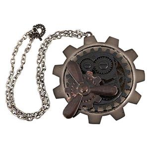 Steampunk Large Propeller Antique Gear Costume Necklace Jewelry