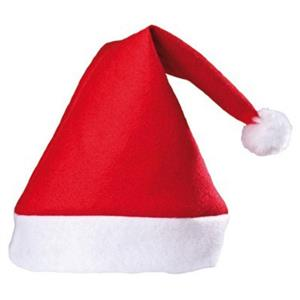 Adult Red Felt Santa Claus Hat