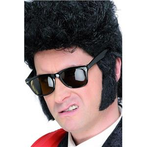 Teddy Boy Black Self Adhesive Sideburns