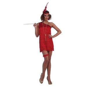 Ruby Red Dazzle Flapper Roaring 20's Adult Costume